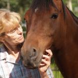 Author Kaylene Johnson with her horse