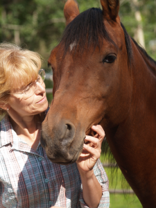 Author Kaylene Johnson with her horse