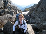 Author Deb Vanasse on the Chilkoot Trail.