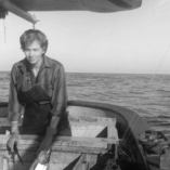 Alaskan author Nancy Mendenhall fishing