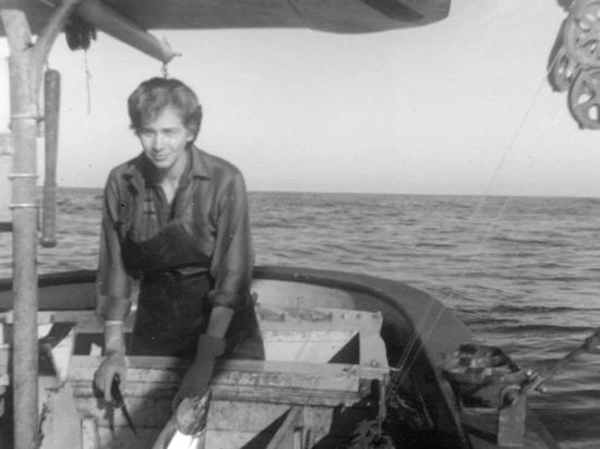 Alaskan author Nancy Mendenhall fishing